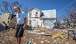 MEXICO BEACH, FL 0CT 18: Robert Alley, 64 years old, talks about how his neighbor's house blew into his during the storm in Mexico Beach, Florida after Hurricane Michael October 18, 2018.