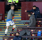 27.09.2020 Motherwell v Rangers:  Filip Helander with ice packs on both knees