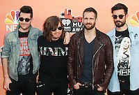 LOS ANGELES, CA, USA - MAY 01: Dan Smith, Chris Wood, Will Farquarson, Kyle Simmons, Bastille at the iHeartRadio Music Awards 2014 held at The Shrine Auditorium on May 1, 2014 in Los Angeles, California, United States. (Photo by Celebrity Monitor)
