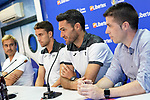 Getafe CF's players Jaime Mata (l) and Jorge Molina during the new Premium Plus Partne, Libertex, official presentation. August 9, 2019. (ALTERPHOTOS/Acero)