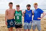 Alex Kiely, Adam Aherne, Ben Kennedy and Jamie Reidy enjoying rugby on the beach in Ballybunion on Saturday.