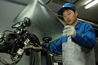 China's largest television tube maker, the Anfei Electronic Glass Co., began operations in Zhengzhou, capital city of central China's Henan Province, China..05-APR-05