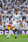 Raphael Varane of Real Madrid in action during the La Liga 2017-18 match between Real Madrid and Athletic Club Bilbao at Estadio Santiago Bernabeu on April 18 2018 in Madrid, Spain. Photo by Diego Souto / Power Sport Images