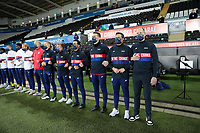 SWANSEA, WALES - NOVEMBER 12: Gregg Berhalter head coach of the USMNT and bench before a game between Wales and USMNT at Liberty Stadium on November 12, 2020 in Swansea, Wales.