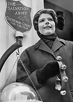 1968 FILE PHOTO - <br /> <br /> The real Christmas spirit, Margaret Roper is a 21-year old cadet in the Salvation Army and you may have seen her outside Eaton's, collecting money for the poor. She personifies the Sally Ann and the spirit of Christmas, too.