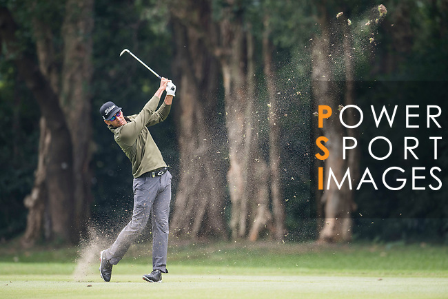 Rafa Cabrera Bello of Spain hits a shot during the day three of UBS Hong Kong Open 2017 at the Hong Kong Golf Club on 25 November 2017, in Hong Kong, Hong Kong. Photo by Marcio Rodrigo Machado / Power Sport Images