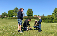 High Wycombe, England 20/04/2020 -<br /> People meet up to enjoy the sun and use there time to play with a remote control car during the COVID-19 pandemic lockdown as the UK Government advice to maintain social distancing and minimise time outside in High Wycombe on 20 April 2020. Photo by PRiME Media Images / Andy Rowland.