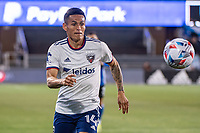 SAN JOSE, CA - MAY 01: Andy Najar #14 of DC United chases the ball during a game between San Jose Earthquakes and D.C. United at PayPal Park on May 01, 2021 in San Jose, California.