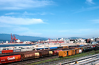 Vancouver: Waterfront, Rail Yards, from CPR Station. Photo '86.