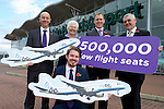 Pix: Shaun Flannery/shaunflanneryphotography.com<br /> <br /> COPYRIGHT PICTURE>>SHAUN FLANNERY>01302-570814>>07778315553>><br /> <br /> 10th November 2015<br /> Doncaster Sheffield Airport announces 8 new Flybe routes.<br /> Pictured L-R (back) Steve Gill, Managing Director Doncaster Sheffield Airport, Ros Jones, Doncaster Mayor, Phil Delaney, Sales & Distribution Director, Flybe, Martin McKervey, Sheffield LEP (front) Chris Harcombe, Head of Aviation Development Doncaster Sheffield Airport.