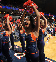 Jan. 22, 2011; Charlottesville, VA, USA; Virginia Cavaliers dancers cheer during the game after the game at the John Paul Jones Arena. Mandatory Credit: Andrew Shurtleff-US PRESSWIRE