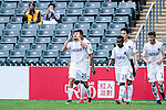 Auckland City Forward Emiliano Tade (l) celebrating his score with teammates during the 2017 Lunar New Year Cup match between Auckland City FC (NZL) and FC Seoul ((KOR) on January 28, 2017 in Hong Kong, Hong Kong. Photo by Marcio Rodrigo Machado/Power Sport Images