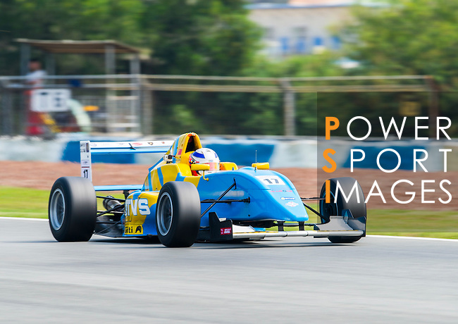 Hong Shijie of China and Super License drives during Formula Masters China Series as part of the 2015 Pan Delta Super Racing Festival at Zhuhai International Circuit on September 18, 2015 in Zhuhai, China.  Photo by Moses Ng/ Power Sport Images