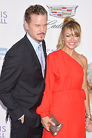 BRENTWOOD, CA - JUNE 11: Actor Eric Dane and wife/actress Rebecca Gayheart-Dane arrive at the 15th Annual Chrysalis Butterfly Ball at a private residence on June 11, 2016 in Brentwood, California.