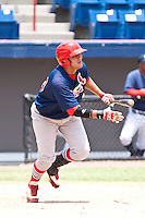 Hector Garcia of the Gulf Coast League Cardinals during the game at Space Coast Stadium in Viera, Florida July 11 2010.  Photo By Scott Jontes/Four Seam Images