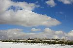 Judea, a Palestinian village in the snow
