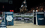 Martin Fuchs of Switzerland rides PSG Future at the Longines Grand Prix during the Longines Hong Kong Masters 2015 at the AsiaWorld Expo on 15 February 2015 in Hong Kong, China. Photo by Xaume Olleros / Power Sport Images