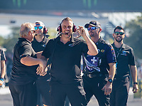 Sep 23, 2018; Madison, IL, USA; Crew members for NHRA factory stock driver Leah Pritchett during the Midwest Nationals at Gateway Motorsports Park. Mandatory Credit: Mark J. Rebilas-USA TODAY Sports