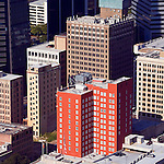 The Carling downtown Jacksonville helicopter aerial