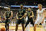 Florida State forward Malik Osborne (10), forward RaiQuan Gray (1) and guard Devin Vassell (24) react to a score the second half of an NCAA college basketball game against Notre Dame in Tallahassee, Fla., Saturday, Jan. 25, 2020.  (AP Photo/Mark Wallheiser), Fla., Saturday, Jan. 25, 2020. Florida State defeated Notre Dame 85-84.  (AP Photo/Mark Wallheiser)