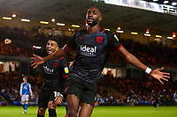28th August 2021; Weston Homes Stadium, Peterborough, Cambridgeshire, England; EFL Championship football, Peterborough United versus West Bromwich Albion; Semi Ajayi of West Bromwich Albion celebrates his winning goal after 95 minutes (0-1)