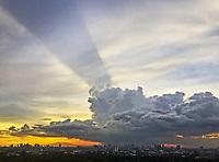 Spectacular Rainstorm over the Wak-Wak Golf Course and Manila skyline.