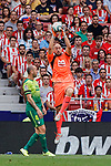 Marko Dmitrovic of SD Eibar in action during La Liga match between Atletico de Madrid and SD Eibar at Wanda Metropolitano Stadium in Madrid, Spain.September 01, 2019. (ALTERPHOTOS/A. Perez Meca)