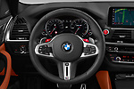 Car pictures of steering wheel view of a 2020 BMW X3 M-Competition 5 Door SUV Steering Wheel