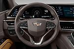 Car pictures of steering wheel view of a 2021 Cadillac Escalade-ESV Sport 5 Door SUV Steering Wheel