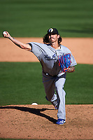 Glendale Desert Dogs pitcher Ralston Cash (85) delivers a pitch during an Arizona Fall League game against the Surprise Saguaros on October 23, 2015 at Salt River Fields at Talking Stick in Scottsdale, Arizona.  Glendale defeated Surprise 9-6.  (Mike Janes/Four Seam Images)
