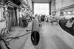 From World Class Superyachts to High Performance Racing Yachts, Lorima leads the way and innovates in todays construction of Carbon fiber masts and spars..Lorima masts are carbon fiber One Shot tubes, built in female tools in a 38 m long autoclave. Lorient Kéroman Submarine Base, Brittany, France.