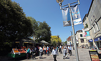 Pictured: Market stalls at the Hayes Cardiff Thursday 25 May 2017<br />