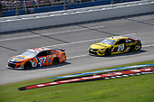 #37: Chris Buescher, JTG Daugherty Racing, Chevrolet Camaro Tide Pods and #20: Erik Jones, Joe Gibbs Racing, Toyota Camry STANLEY