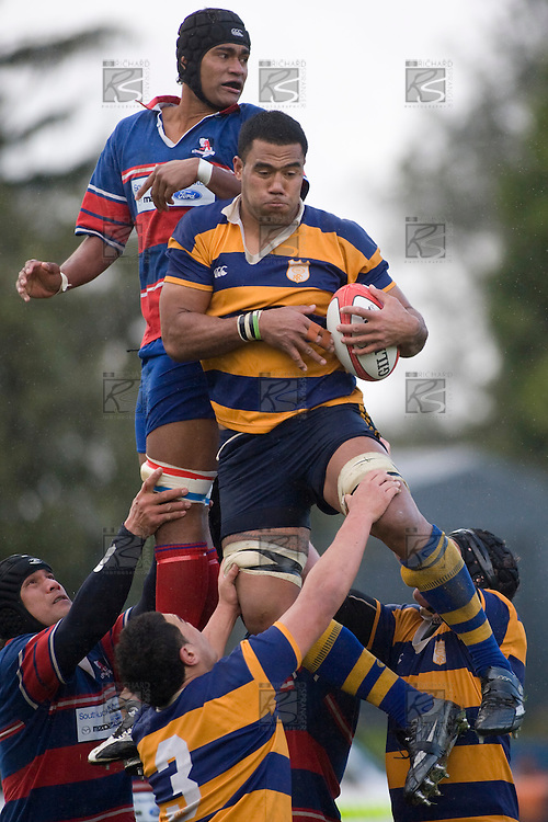 Alepini Olosoni. CMRFU Counties Power 2008 Club rugby McNamara Cup Premier final between Ardmore Marist & Patumahoe played at Growers Stadium, Pukekohe on July 26th.  Ardmore Marist won 9 - 8.