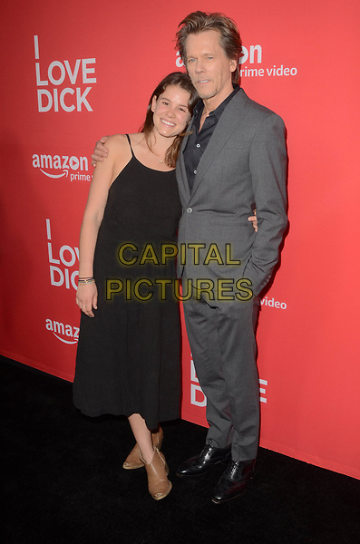 LOS ANGELES, CA - APRIL 20: Sosie Bacon and Kevin Bacon at the I Love Dick Premiere at the Linwood Dunn Theater in Los Angeles, California on April 20, 2017. <br /> CAP/MPI/DE<br /> ©DE/MPI/Capital Pictures