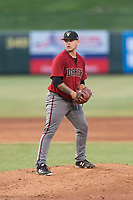 AZL Diamondbacks relief pitcher Jordan Watson (33) gets ready to deliver a pitch during an Arizona League game against the AZL Angels at Tempe Diablo Stadium on July 16, 2018 in Tempe, Arizona. The AZL Diamondbacks defeated the AZL Angels by a score of 4-3. (Zachary Lucy/Four Seam Images)