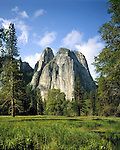 Cathedral Spires in Yosemite Valley, Yosemite National Park, Merced, California, USA. .  John offers private photo tours throughout the western USA, especially Colorado. Year-round.
