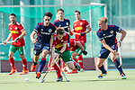 Mannheim, Germany, September 12: During the 1. Bundesliga men fieldhockey match between Mannheimer HC and Hamburger Polo Club on September 12, 2020 at Am Neckarkanal in Mannheim, Germany. Final score 2-0. (Copyright Dirk Markgraf / www.265-images.com) *** Teo Hinrichs #6 of Mannheimer HC, Tim Seagon #17 of Mannheimer HC