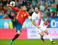 Spain's Sergio Ramos (l) and Costa Rica's Marcos Urena during international friendly match. November 11,2017.(ALTERPHOTOS/Acero) /NortePhoto.com