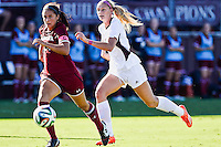 Texas A&M forward Annie Kunz (7) goes after the ball during NCAA soccer game, Sunday, October 26, 2014 in College Station, Tex. South Carolina draw 2-2 against Texas A&M in double overtime. (Mo Khursheed/TFV Media via AP Images)