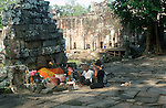 PEOPLE PRAY AND LIGHT INCENSE AT TEMPLE IN AYUTTHAYA