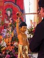 Schmuck zu Buddha's Geburtstag imTempel Bonyeun-sa in Gangnam, Seoul, Südkorea, Asien<br /> Decoration at Buddha's birthday, buddhistic temple Bonyeun-sa in Gangnam, Seoul, South Korea, Asia