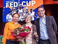 The Hague, The Netherlands, Februari 8, 2020,    Sportcampus, FedCup  Netherlands -  Balarus, First match on Saturday:  Award for Marijke Jansen<br /> Photo: Tennisimages/Henk Koster