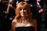 """Cannes Film Festival 2021 . 74th edition of the 'Festival International du Film de Cannes' under Covid-19 outbreak on 10/07/2021 in Cannes, France. Arrival for the screening of the film """"Flag Day""""  French-Canadian singer Mylene Farmer.<br /> © Pierre Teyssot / Maxppp"""