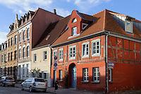 Altstadthäuser in Wismar, Mecklenburg-Vorpommern, Deutschland, UNESCO-Weltkulturerbe