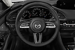 Car pictures of steering wheel view of a 2019 Mazda Mazda-3 Preferred-Package 4 Door Sedan Steering Wheel