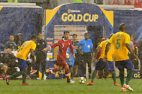 Harrison, NJ - Friday July 07, 2017: Russell Teibert during a 2017 CONCACAF Gold Cup Group A match between the men's national teams of French Guiana (GUF) and Canada (CAN) at Red Bull Arena.
