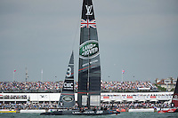 Land Rover BAR, JULY 24, 2016 - Sailing: Land Rover BAR races in front of a home crowd during day two of the Louis Vuitton America's Cup World Series racing, Portsmouth, United Kingdom. (Photo by Rob Munro/Stewart Communications)