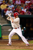 Ryan Jackson (23) of the Springfield Cardinals at bat during a game against the Northwest Arkansas Naturals and the Springfield Cardinals at Hammons Field on July 30, 2011 in Springfield, Missouri. Springfield defeated Northwest Arkansas 11-5. (David Welker / Four Seam Images)