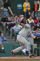 Salem Red Sox infielder Matt Gedman #44 at bat during a game against the Myrtle Beach Pelicans at Ticketreturn.com Field at Pelicans Ballpark on April 3, 2014 in Myrtle Beach, South Carolina. Salem defeated Myrtle Beach 10-3. (Robert Gurganus/Four Seam Images)